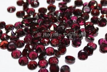 Natural Garnet Faceted Gemstone, 6 mm Calibrated Natural Garnet Gemstone Round Shape Garnet Gemstone