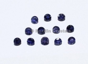 Natural Iolite Faceted Gemstone, 5 mm Blue Color Calibrated Natural Gemstone Round Shape