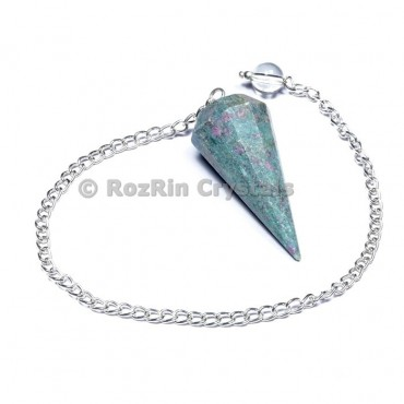 Ruby Fuchsite 12 Faceted Pendulums