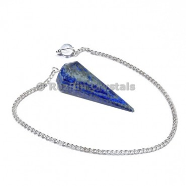 Lapis lazuli  12 Faceted pendulums