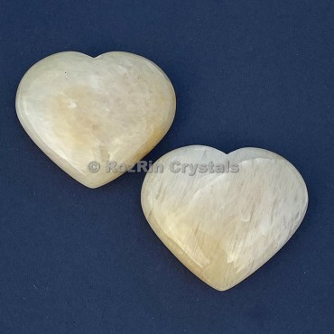 Yellow Aventurine Puffy Heart