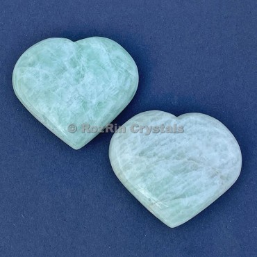 Amazonite Puffy Heart