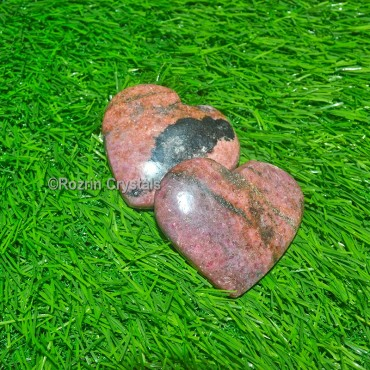 Rhodonite Puffy Heart