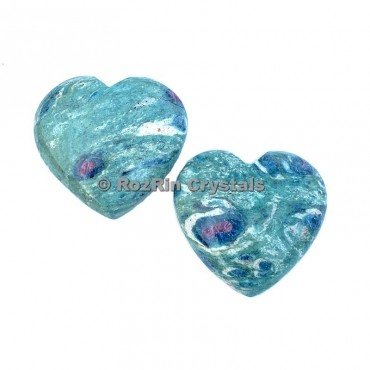 Ruby Fuchsite Puffy Heart