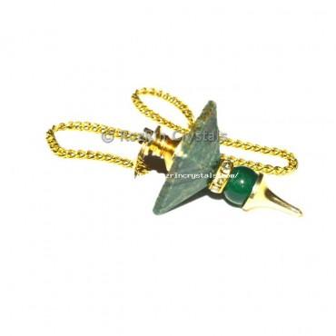 Green Aventurine Pyramid Ball Pendulums