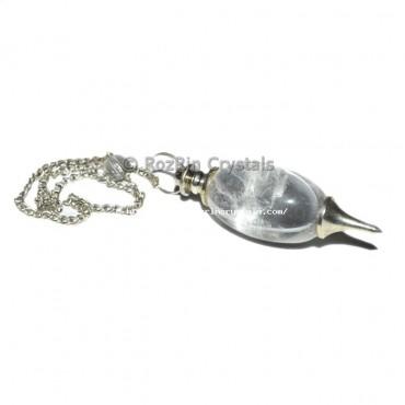 Crystal Quartz Lingam Pendulums