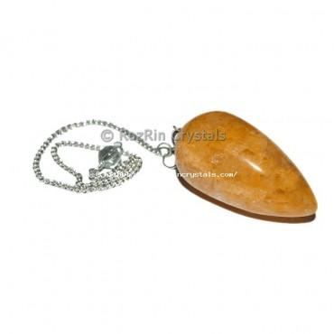 Yellow Aventurine Drop Pendulums