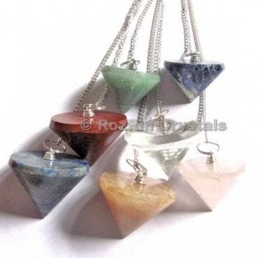 Mix Gemstone Conical Pendulums