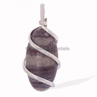 Narmada Lingam Wrap Pendants