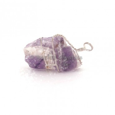 Amethyst Raw Wrap Pendants