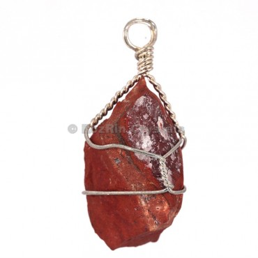 Red Jasper Raw Wrap Pendants