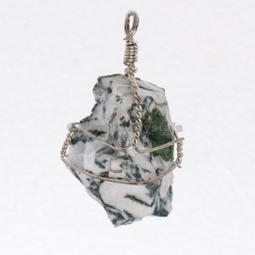 Tree Agate Raw Wrap Pendants