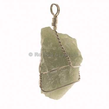 Green Aventurine Raw Wrap Pendants